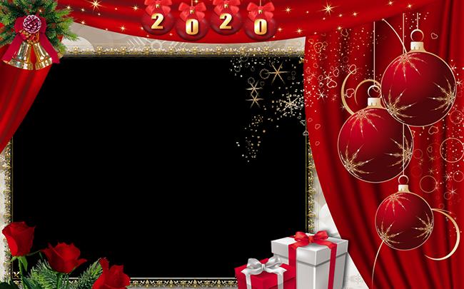 Bolas De Año Nuevo 2020 Marco Para Foto 650x405 - Bolas De Año Nuevo 2020 Marco Para Foto