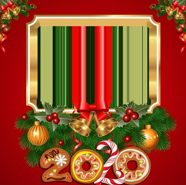 Campanas De Año Nuevo 2020 Marco Para Foto - Campanas De Año Nuevo 2020 Marco Para Foto
