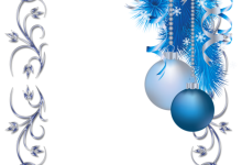 Gran marco de fotos de Navidad azul y blanco 220x150 - Gran marco de fotos de Navidad azul y blanco