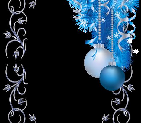 Gran marco de fotos de Navidad azul y blanco 467x405 - Gran marco de fotos de Navidad azul y blanco