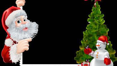 Gran marco navideño con Santa y muñeco de nieve 390x220 - Gran marco navideño con Santa y muñeco de nieve