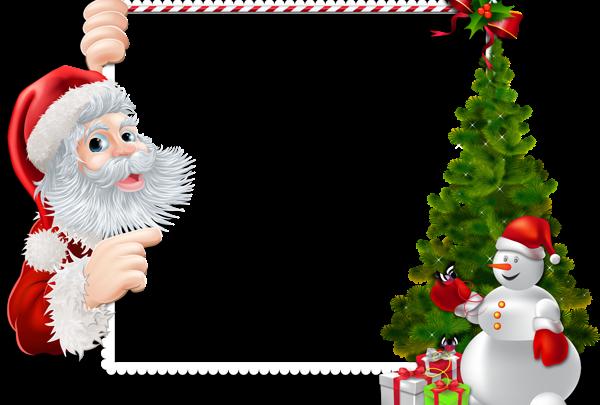 Gran marco navideño con Santa y muñeco de nieve 600x405 - Gran marco navideño con Santa y muñeco de nieve