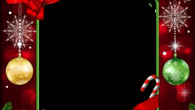 Hermoso marco de Navidad decoración roja 390x220 - Hermoso marco de Navidad decoración roja
