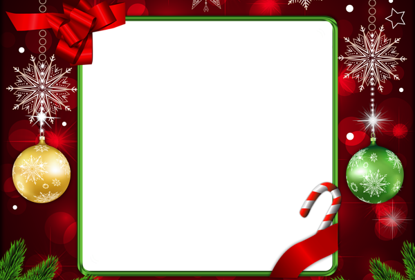 Hermoso marco de Navidad decoración roja 600x405 - Hermoso marco de Navidad decoración roja