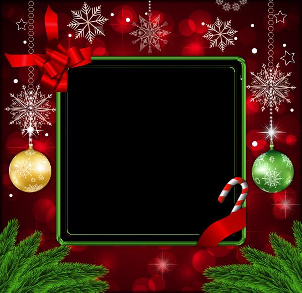 Hermoso marco de Navidad decoración roja - Hermoso marco de Navidad decoración roja