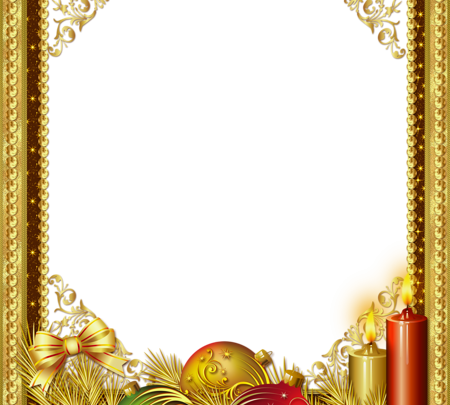 Hermoso marco de fotos de Navidad dorado 450x405 - Hermoso marco de fotos de Navidad dorado
