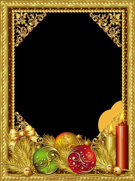 Hermoso marco de fotos de Navidad dorado - Hermoso marco de fotos de Navidad dorado