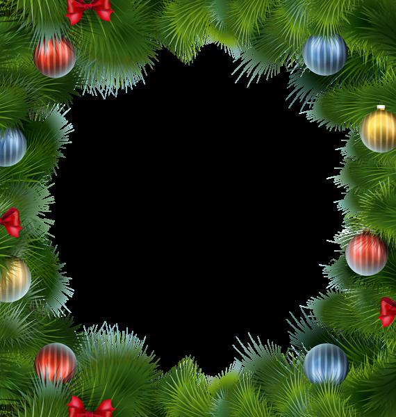 Marco de Navidad Deco con imágenes prediseñadas de bolas de Navidad - Marco de Navidad Deco con imágenes prediseñadas de bolas de Navidad