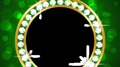 Marco de Navidad verde y dorado 390x220 - Marco de Navidad verde y dorado