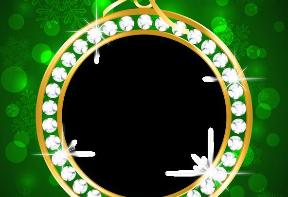 Marco de Navidad verde y dorado 592x405 - Marco de Navidad verde y dorado