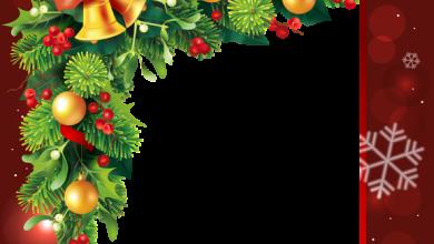 Marco de borde rojo de Navidad 2 390x220 - Marco de borde rojo de Navidad 2