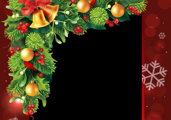 Marco de borde rojo de Navidad 2 577x405 - Marco de borde rojo de Navidad 2