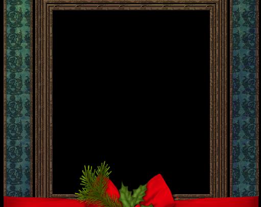 Marco de fotos de Navidad azul con bola de Navidad 511x405 - Marco de fotos de Navidad azul con bola de Navidad