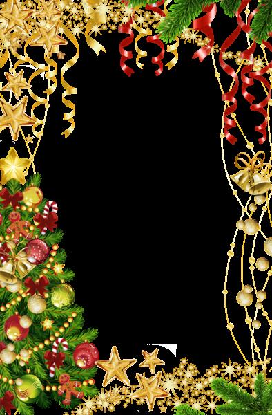 Marco de fotos de Navidad con árbol de Navidad