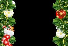 Marco de fotos de Navidad con adornos navideños 220x150 - Marco de fotos de Navidad con adornos navideños