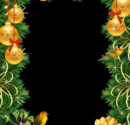 Marco de fotos de Navidad con bolas de Navidad doradas 424x405 - Marco de fotos de Navidad con bolas de Navidad doradas