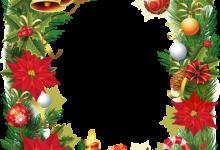 Marco de fotos de Navidad con flor de pascua 220x150 - Marco de fotos de Navidad con flor de pascua