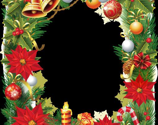 Marco de fotos de Navidad con flor de pascua 510x405 - Marco de fotos de Navidad con flor de pascua