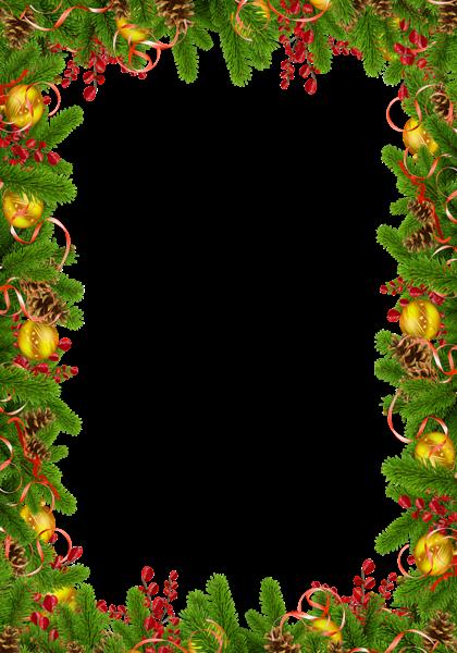 Marco de fotos de Navidad con piñas - Marco de fotos de Navidad con piñas