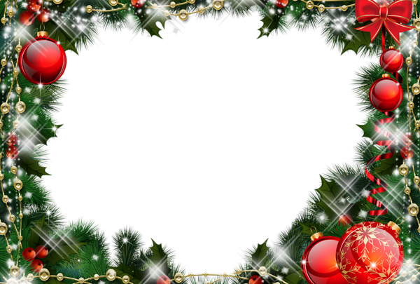 Marco de fotos de Navidad verde con adornos rojos 600x405 - Marco de fotos de Navidad verde con adornos rojos