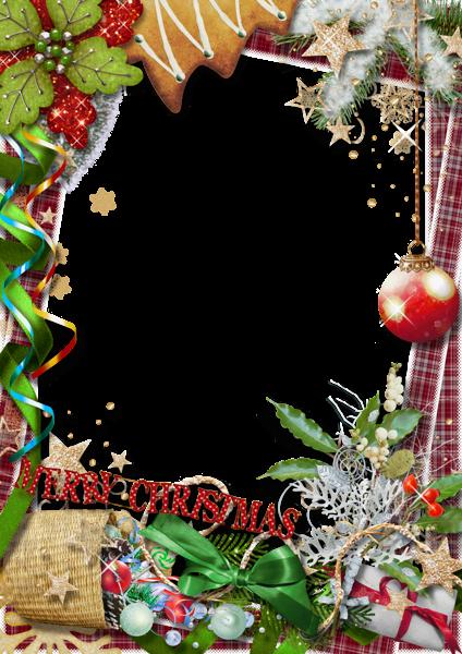 Marco de fotos de feliz Navidad con lazo verde - Marco de fotos de feliz Navidad con lazo verde