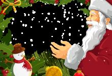 Marco de fotos de navidad con santa claus 220x150 - Marco de fotos de navidad con santa claus