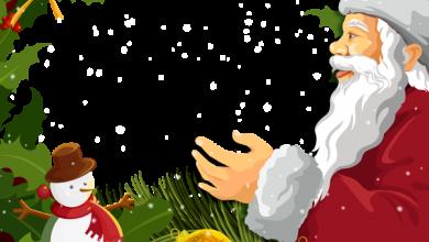Marco de fotos de navidad con santa claus 390x220 - Marco de fotos de navidad con santa claus