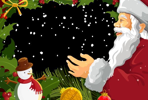Marco de fotos de navidad con santa claus 600x405 - Marco de fotos de navidad con santa claus