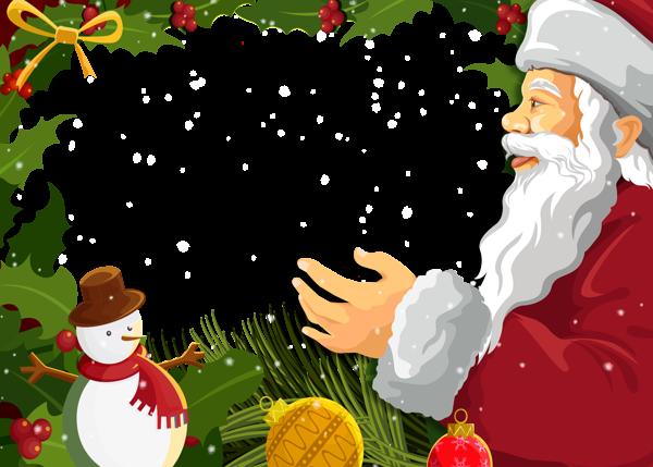 Marco de fotos de navidad con santa claus - Marco de fotos de navidad con santa claus
