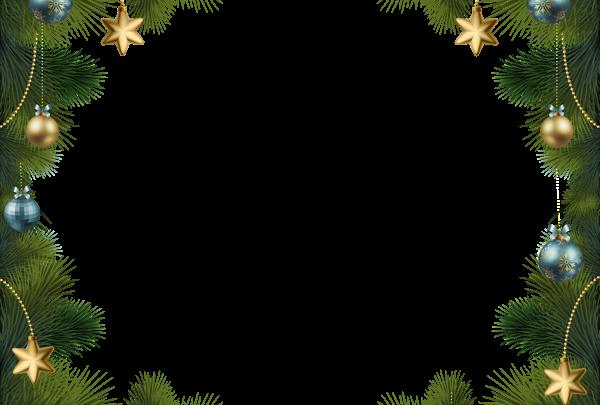 Marco de pino navideño con adornos 600x405 - Marco de pino navideño con adornos