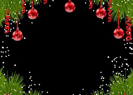 Marco navideño con adornos rojos 563x405 - Marco navideño con adornos rojos