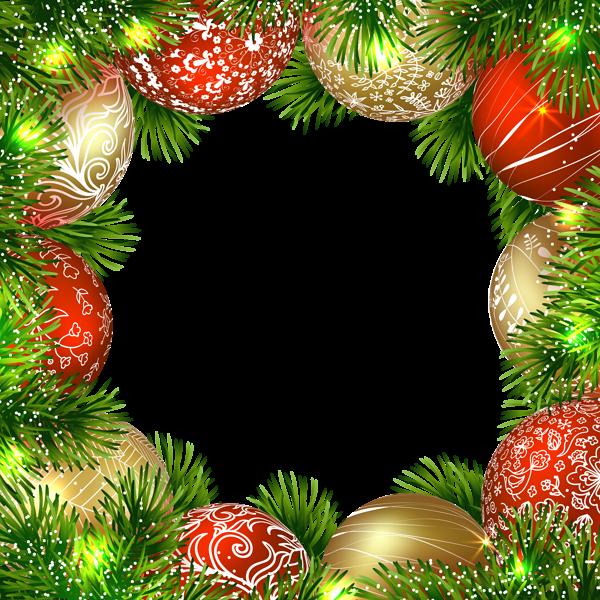 Marco navideño con adornos - Marco navideño con adornos
