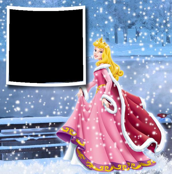 Navidad Invierno princesa aurora Marco de fotos - Navidad Invierno princesa aurora Marco de fotos