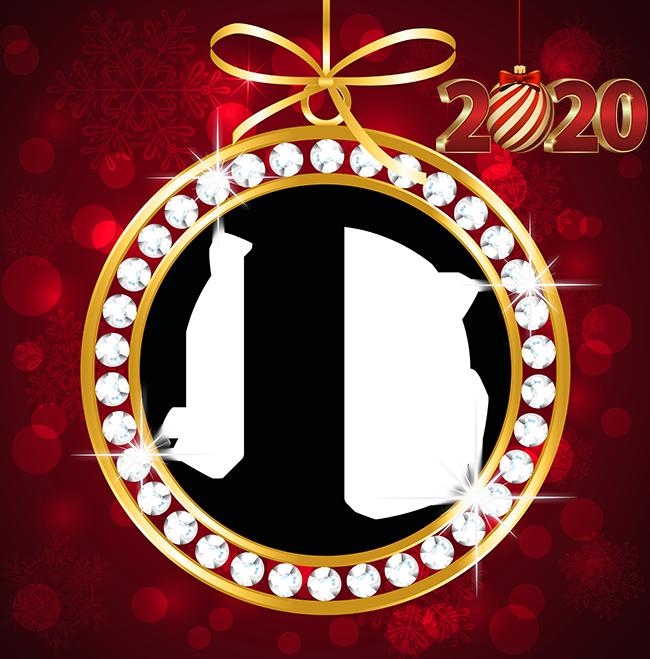 Navidad Roja Y Dorada 2020 Marco Para Foto - Navidad Roja Y Dorada 2020 Marco Para Foto
