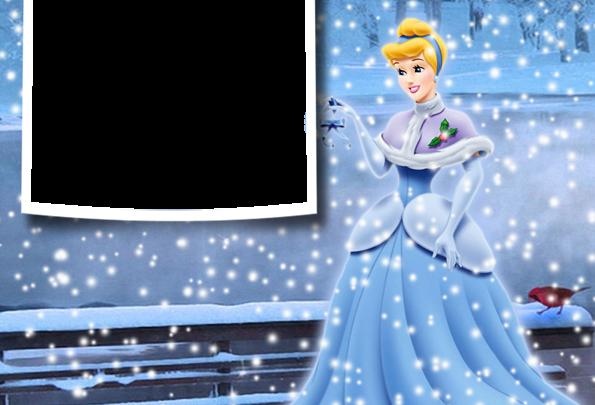 Navidad invierno princesa cenicienta marco de fotos 595x405 - Navidad invierno princesa cenicienta marco de fotos