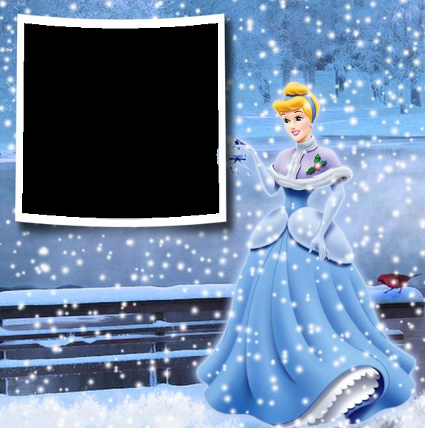 Navidad invierno princesa cenicienta marco de fotos - Navidad invierno princesa cenicienta marco de fotos