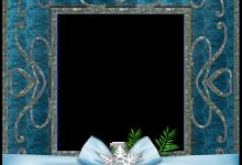 marco de fotos de Navidad azul 220x150 - marco de fotos de Navidad azul