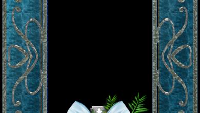 marco de fotos de Navidad azul 390x220 - marco de fotos de Navidad azul