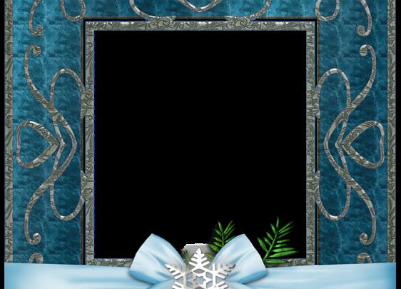 marco de fotos de Navidad azul 562x405 - marco de fotos de Navidad azul