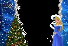 navidad niños princesa aurora marco de fotos 220x150 - navidad niños princesa aurora marco de fotos