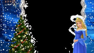 navidad niños princesa aurora marco de fotos 390x220 - navidad niños princesa aurora marco de fotos