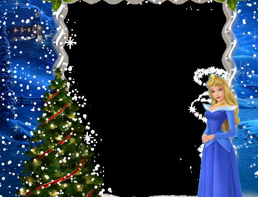 navidad niños princesa aurora marco de fotos 531x405 - navidad niños princesa aurora marco de fotos