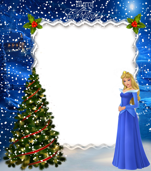 navidad niños princesa aurora marco de fotos - navidad niños princesa aurora marco de fotos