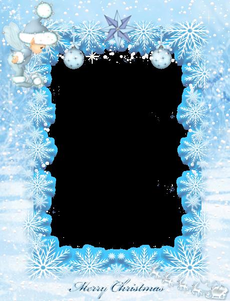 niños navidad marco de fotos de elfo de hielo