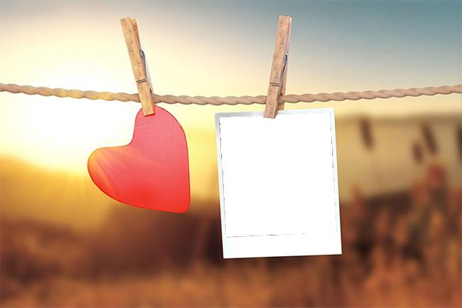 Marco de amor con pinzas para la ropa 1 - Marco de amor con pinzas para la ropa
