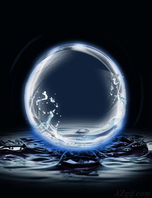 bola de cristal de agua marco de fotos 3 - bola de cristal de agua marco de fotos