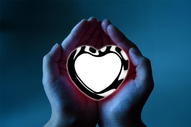 mi corazón entre tus manos marco de fotos - mi corazón entre tus manos marco de fotos