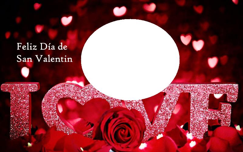 Marco de Feliz D%C3%ADa de San Valentin - Amo Marcos para foto