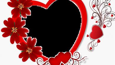 Photo of Marco de regalo de corazón con rosas para el día de San Valentín
