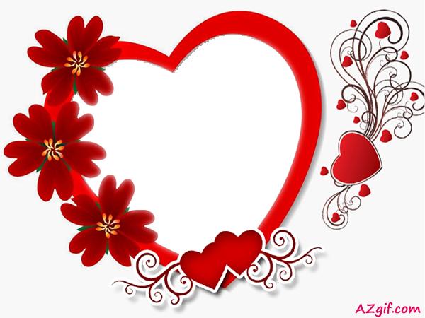 Marco de regalo de corazón con rosas para el día de San Valentín - Marco de regalo de corazón con rosas para el día de San Valentín